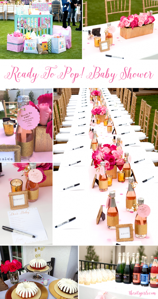 Ready to pop! This beautiful pink and gold baby shower is the sweetest way to welcome a new little girl into the world.