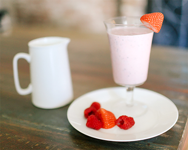 Protein Smoothie With Strawberries