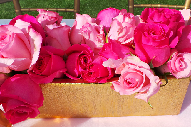 Pink Rose Centerpiece | Baby Shower Decor