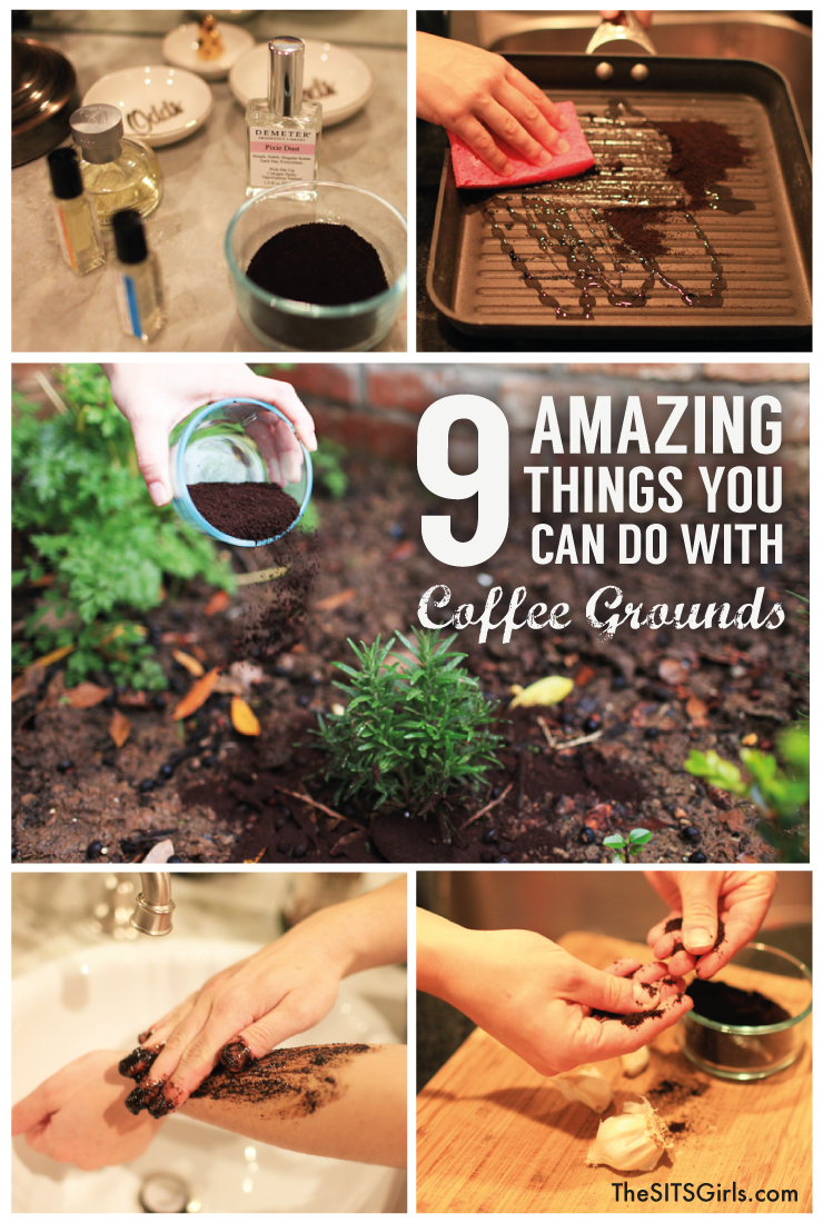 9 great ideas for reusing coffee grounds in your home and garden.