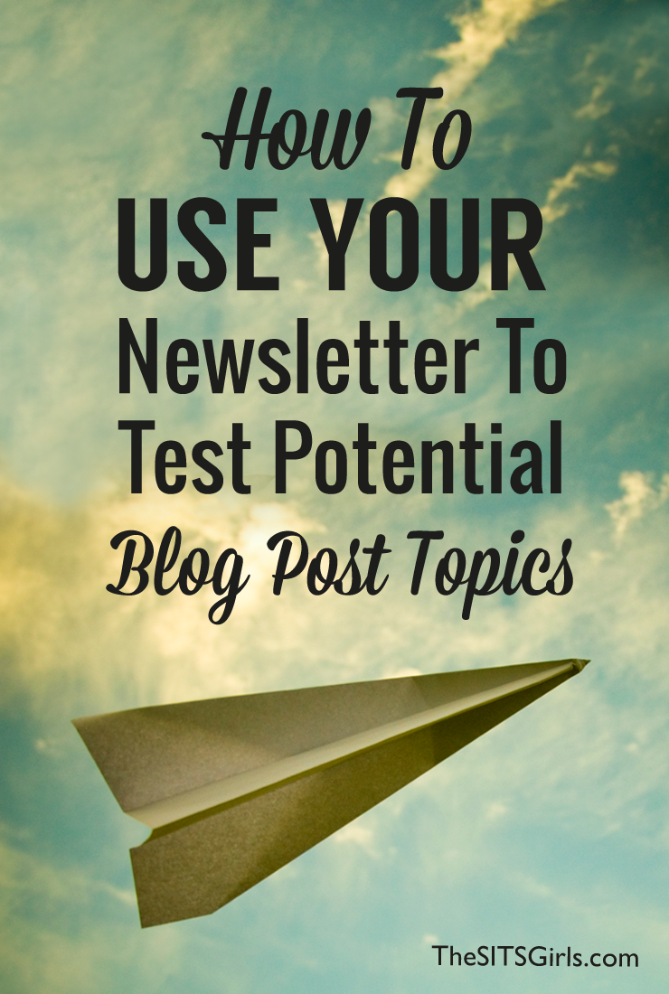 Did you know you can use your newsletter to find potential blog post ideas? Use this simple secret to fill up your editorial calendar today! | Blog Tips