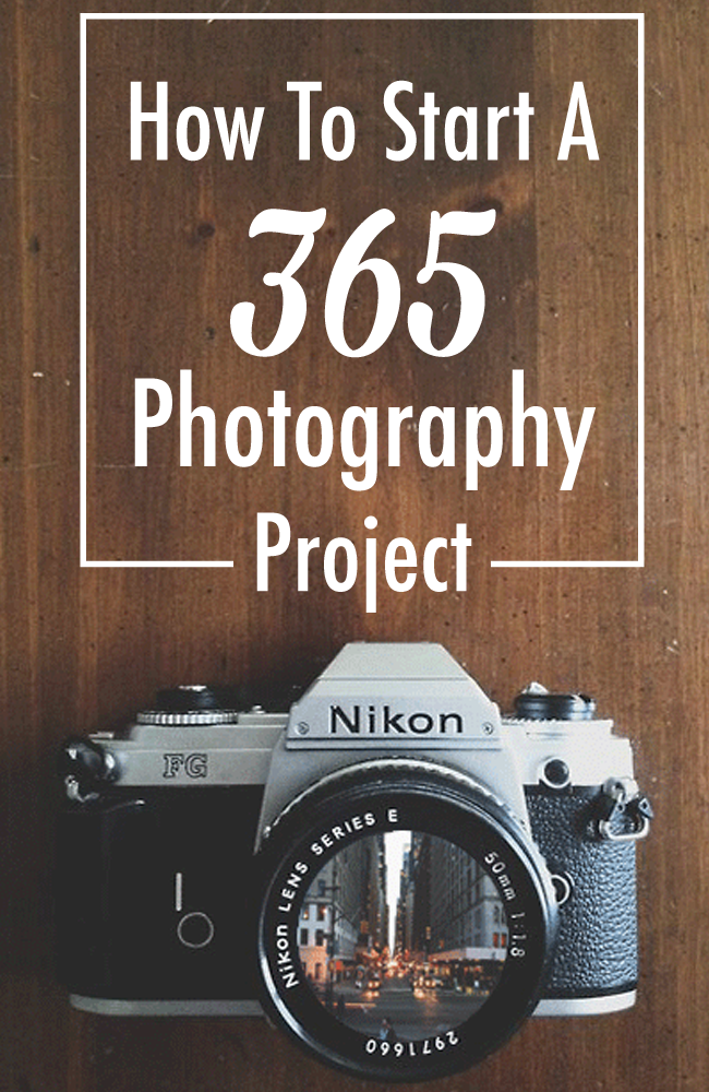 Jumpstart your creativity and work on your photography skills by participating in a 365 Photography Project. Start today! You don't have to wait until the beginning of the year!