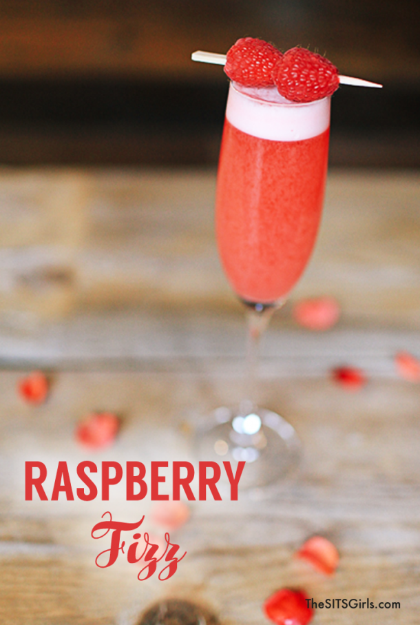 Looking for a great gin drink that is more than a gin and tonic? Try this gin raspberry fizz cocktail recipe. It's delicious!