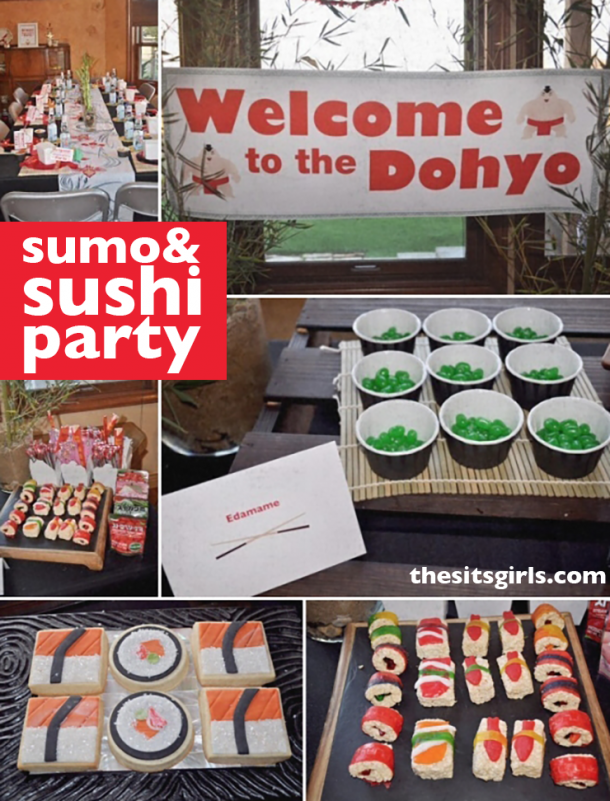 Sushi themed birthday party for kids.