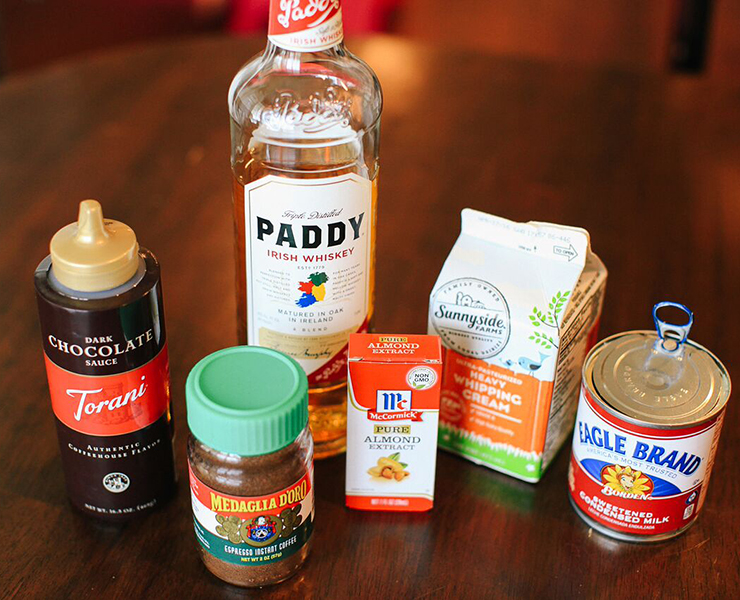 Ingredients for Homemade Baileys Irish Cream