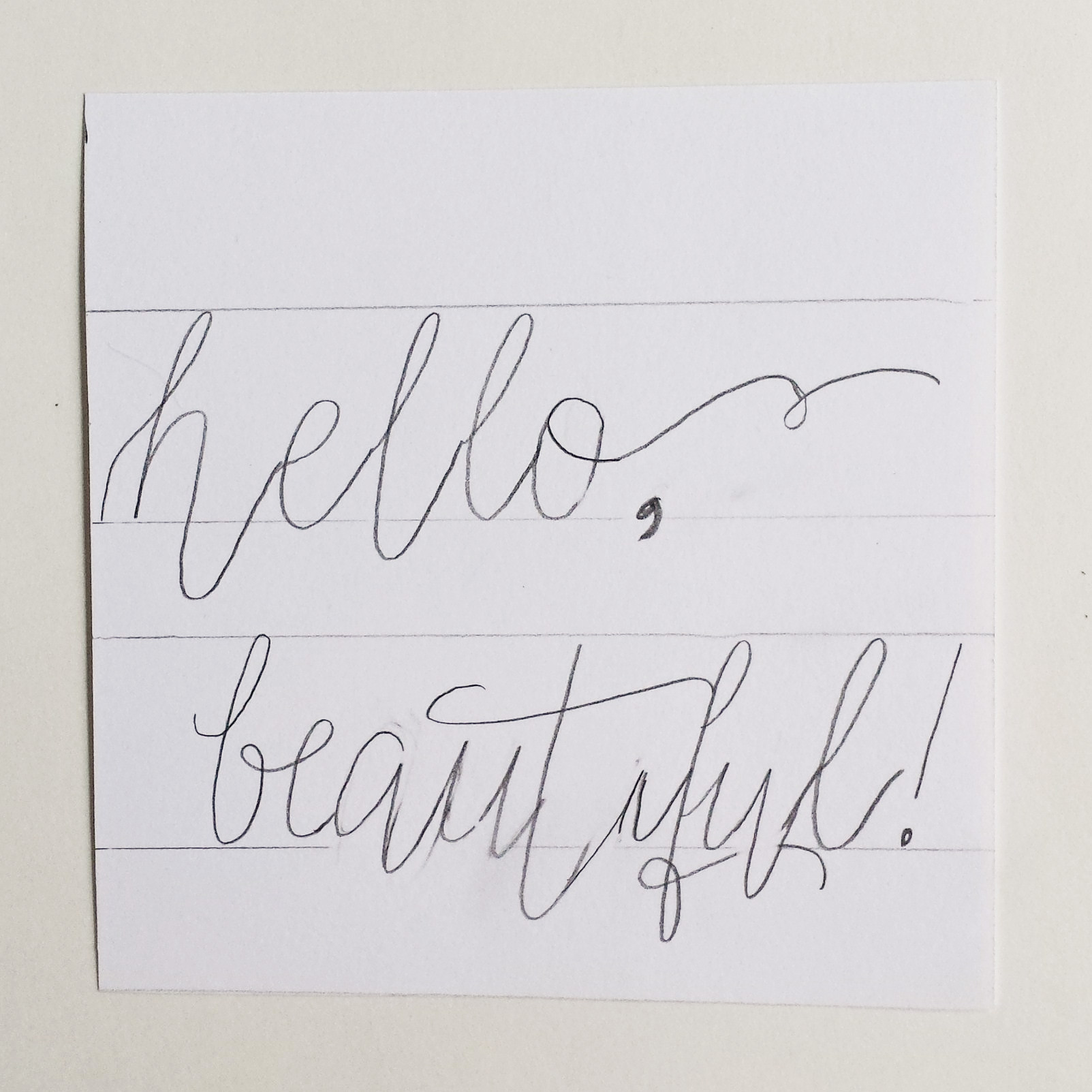 How To Create Fake Calligraphy Hand Lettering
