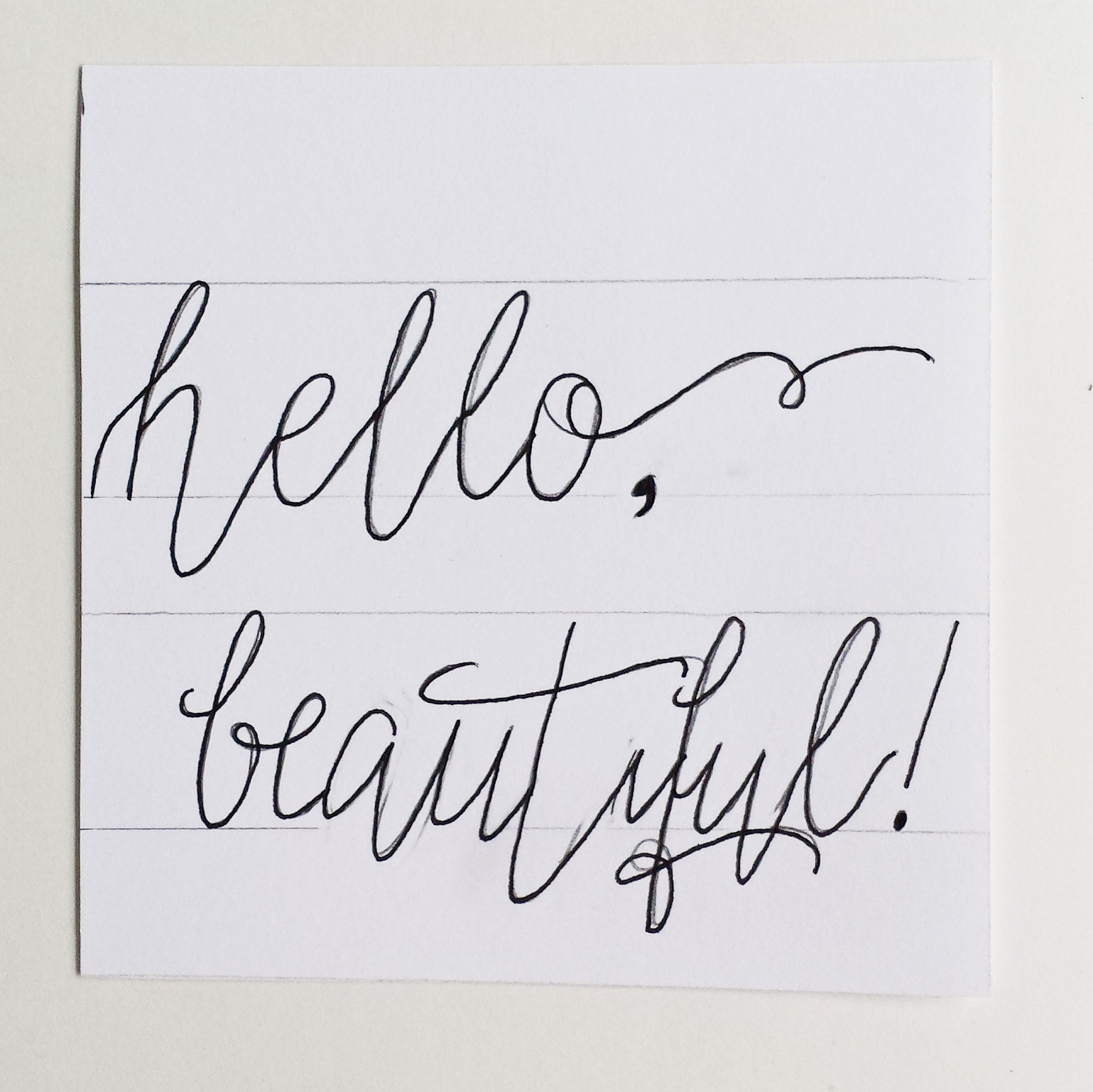 Drawing Lines For Calligraphy : How to create fake calligraphy hand lettering