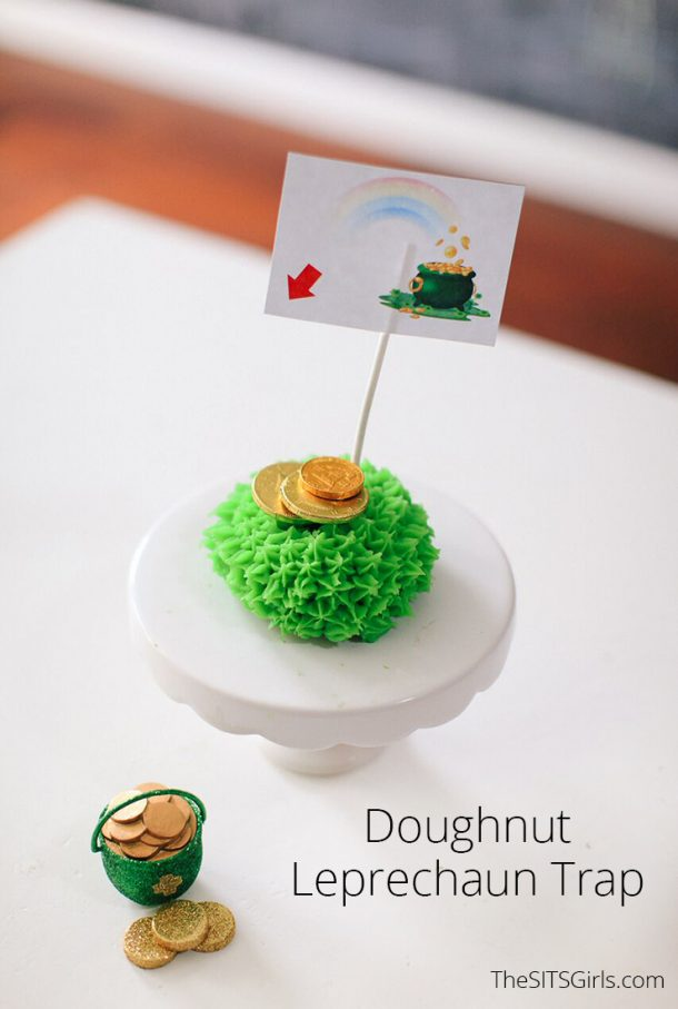 A sweet treat and St Patrick's Day fun in one cute package! Make a doughnut leprechaun trap and see if you can catch a little luck this year.