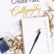 How to draw fake calligraphy the easy way!