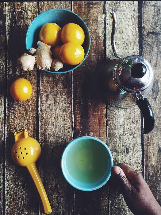 Flat Lay Tea