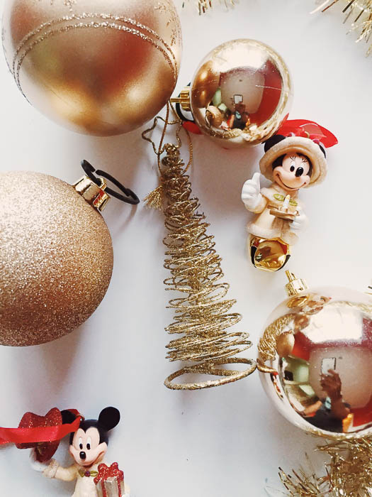 Flat Lay Photography | Christmas Ornaments