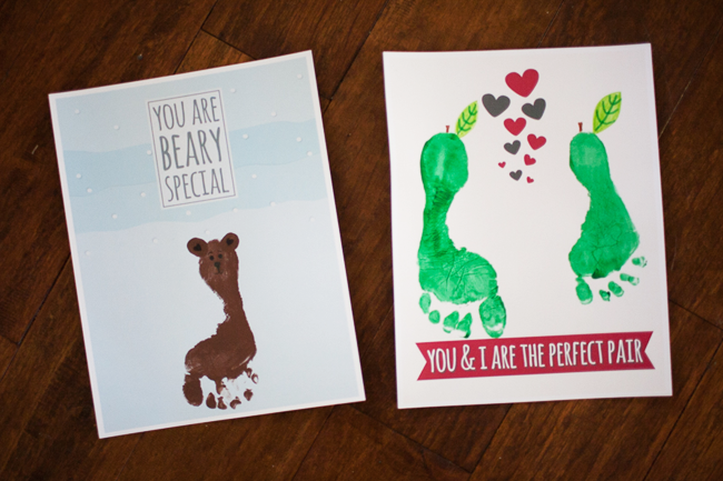 Use your hands and feet to make adorable Valentine's!
