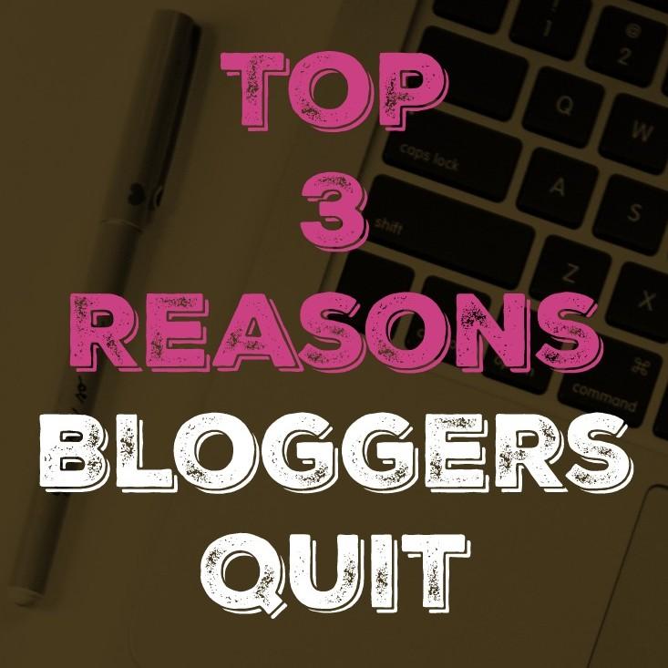 bloggers quit