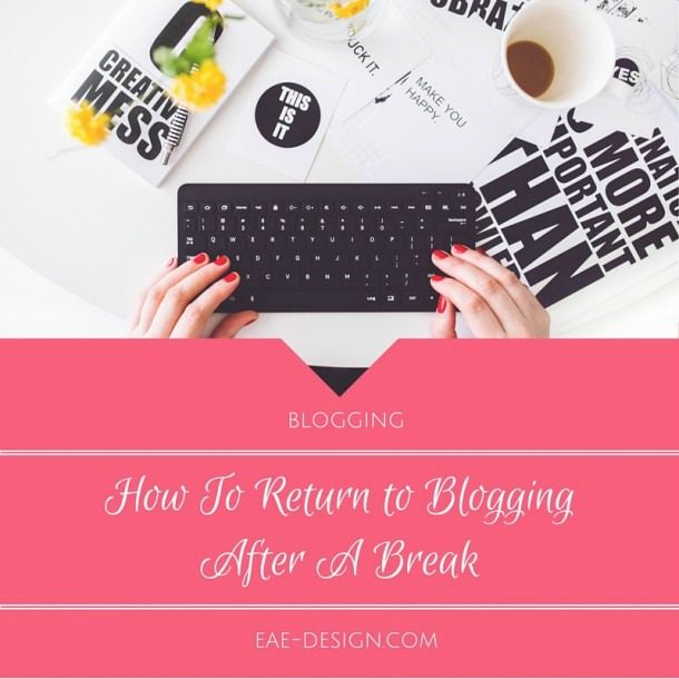return to blogging