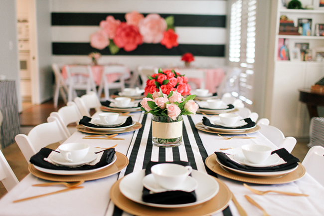 The black and white with pops of color is simply amazing!