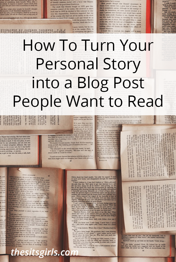 Do you want to share more of your life with your readers, but you aren't sure if your life is a story worth reading? It is! Your life, your stories, are important. Learn how to turn your personal story into blog posts people want to read.