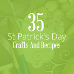 35 of our favorite St Patrick's Day crafts and recipes | Includes DIY decorations, crafts for kids, and delicious recipes for rainbow food. This list is everything you need to have a fun St Patrick's Day.
