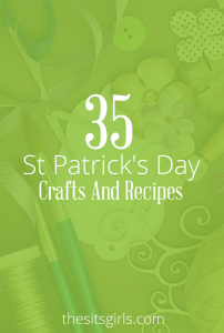 35 of our favorite St Patrick's Day crafts and recipes   Includes DIY decorations, crafts for kids, and delicious recipes for rainbow food. This list is everything you need to have a fun St Patrick's Day.