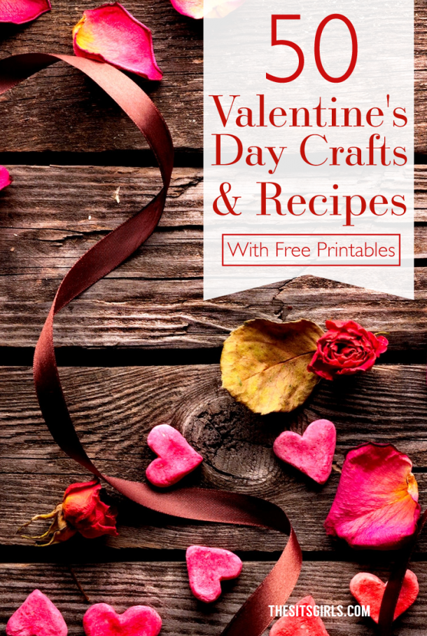 Fall in love with a good DIY project with this list of 50 crafts and recipes that are perfect for Valentine's Day.