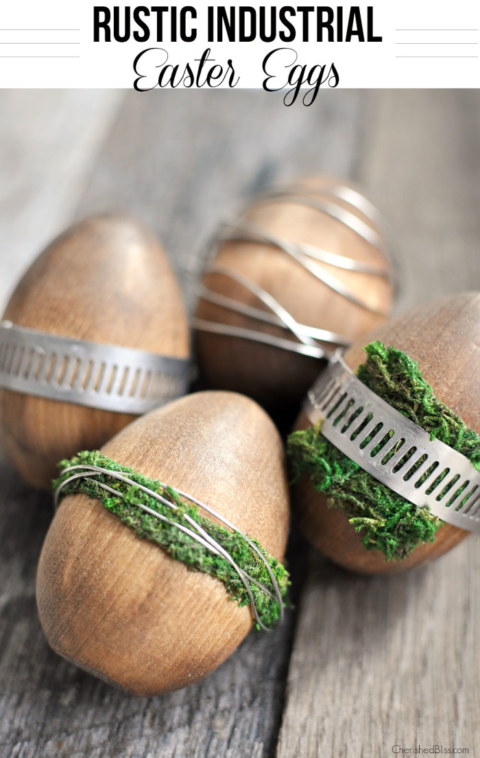 We are loving this rustic version of Easter Eggs!