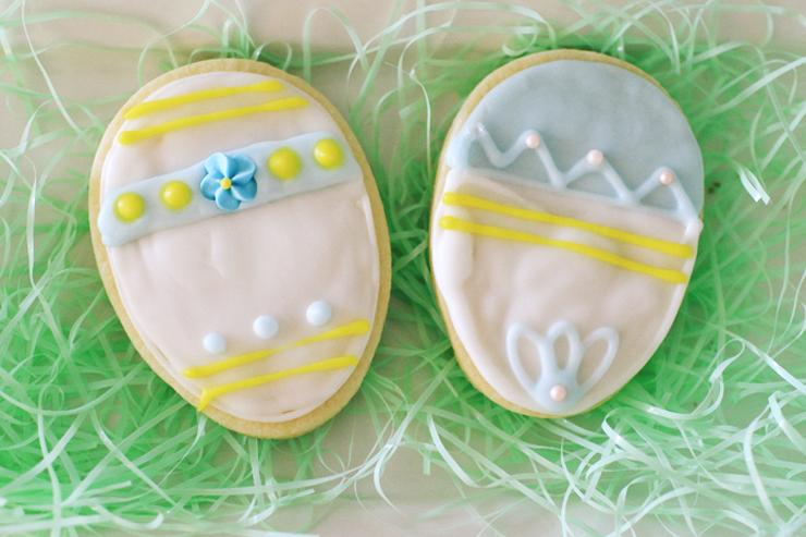Decorate Sugar cookies like a traditional Easter egg. Super cute!