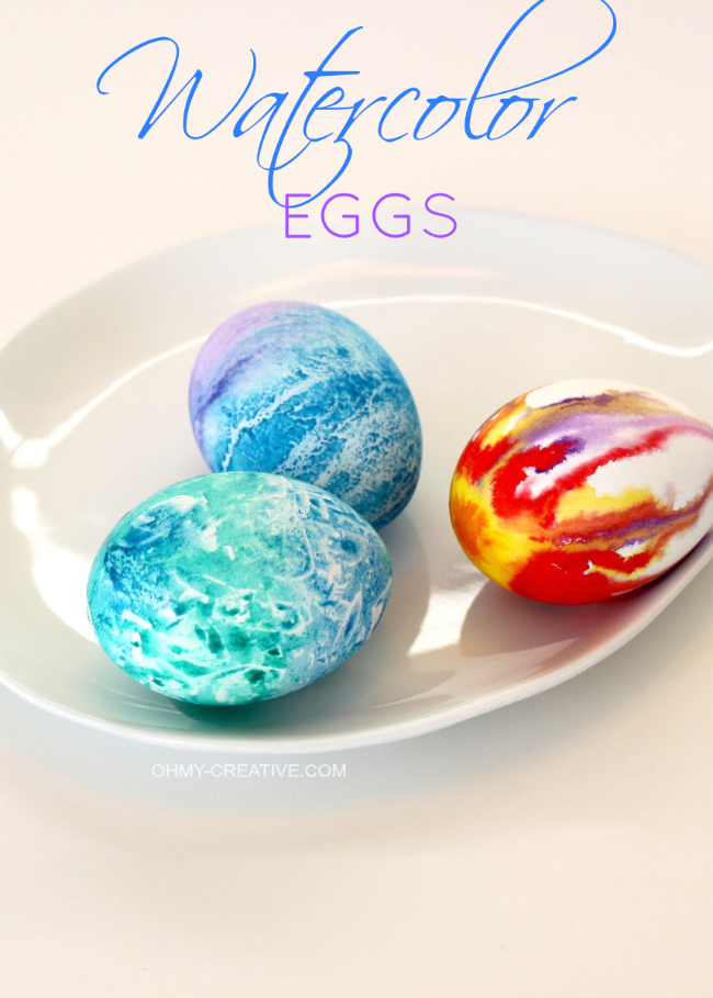 Try using watercolors to dye your eggs this year!