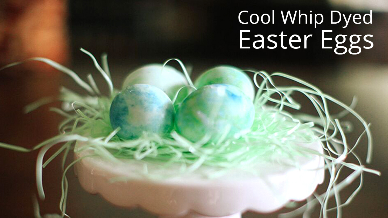 Easter Egg Decorating Technique Cool Whip Dyed Easter Eggs
