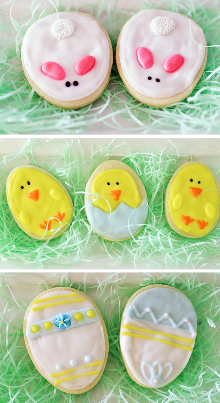 Easy Easter Cookies | You can decorate Easter Cookies with four cute designs using one simple cookie cutter.