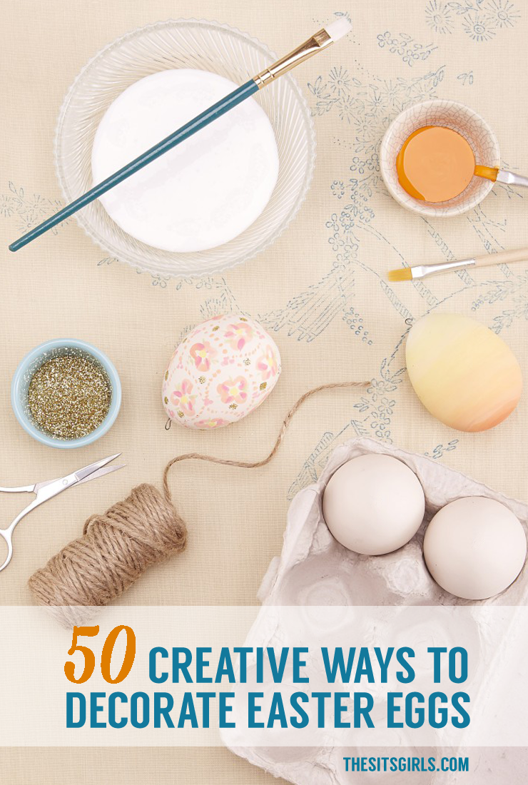 50 amazing ideas for Easter egg decorating.