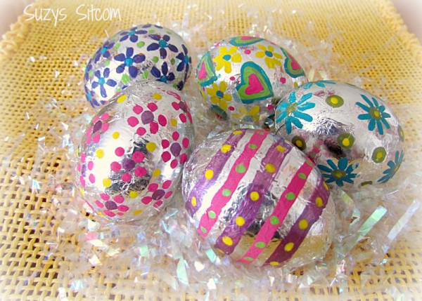 These are such a fun and trendy way to decorate Easter Eggs!