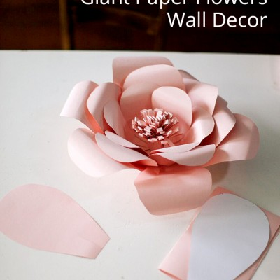 Giant Paper Flowers Wall Decor