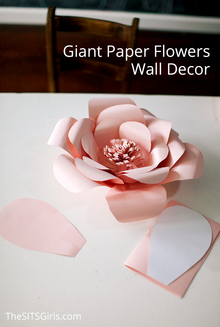 Giant Paper Flowers Wall Decor Spring Party
