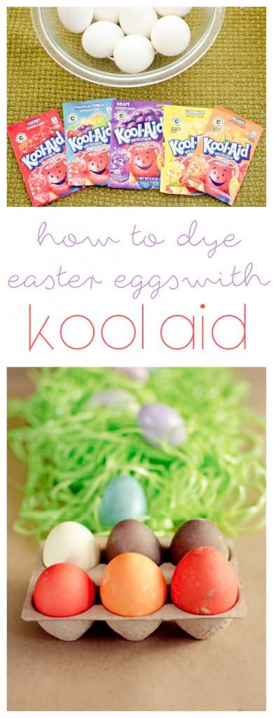 We love this idea of using koolaid to dye eggs!
