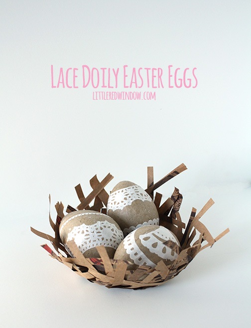 We love these lace vintage inspired easter eggs!