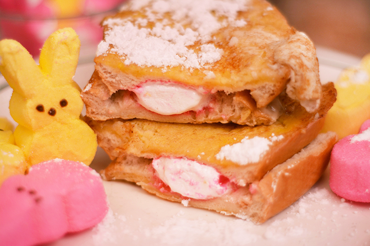 French toast recipe made better with Peeps!