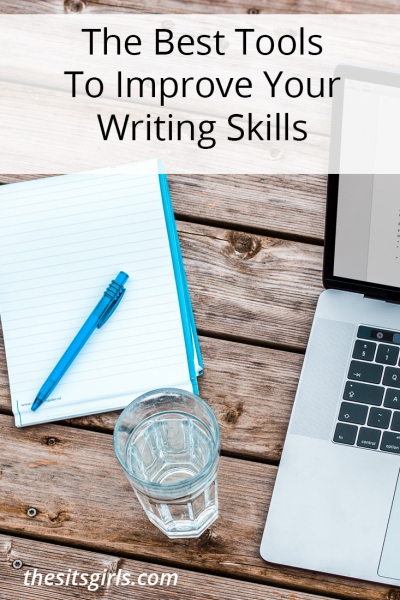 Great list of writing tools for bloggers or anyone who wants to improve their writing skills! Includes books, resources, and an online tool that will help you become a better writer.