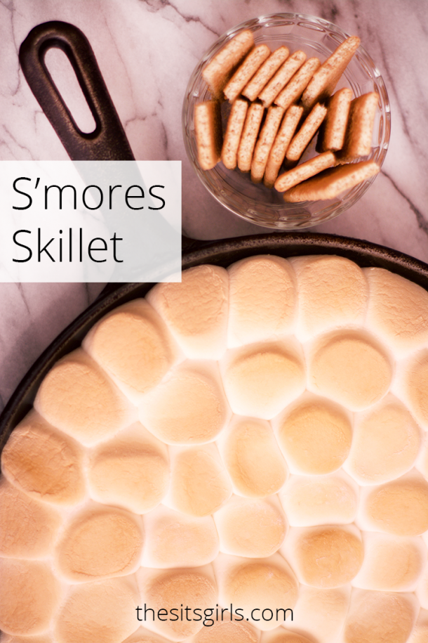 S'mores Skillet | Bring the campfire fun inside with this delicious s'mores dip. It's easy to make, and great for parties.