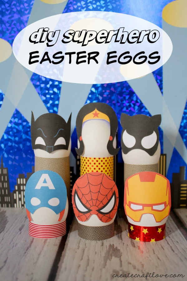 We are super big fans of these Superhero eggs!