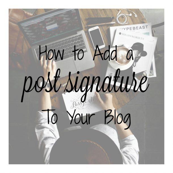 post signature