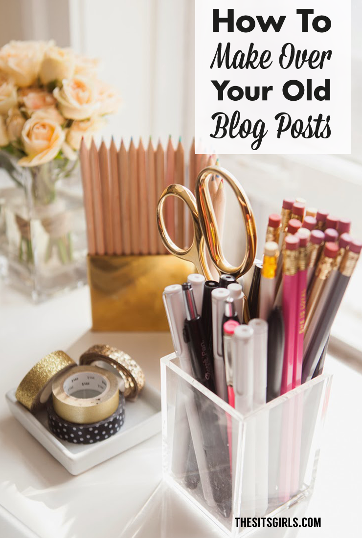 Give new life to old blog posts! A simple blog post makeover can bring in new readers. | Blog Tips