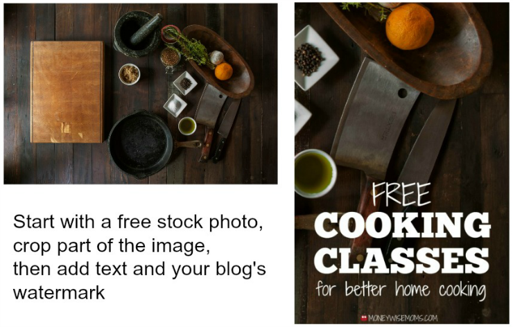 Personalize stock photos by cropping them down and adding text.