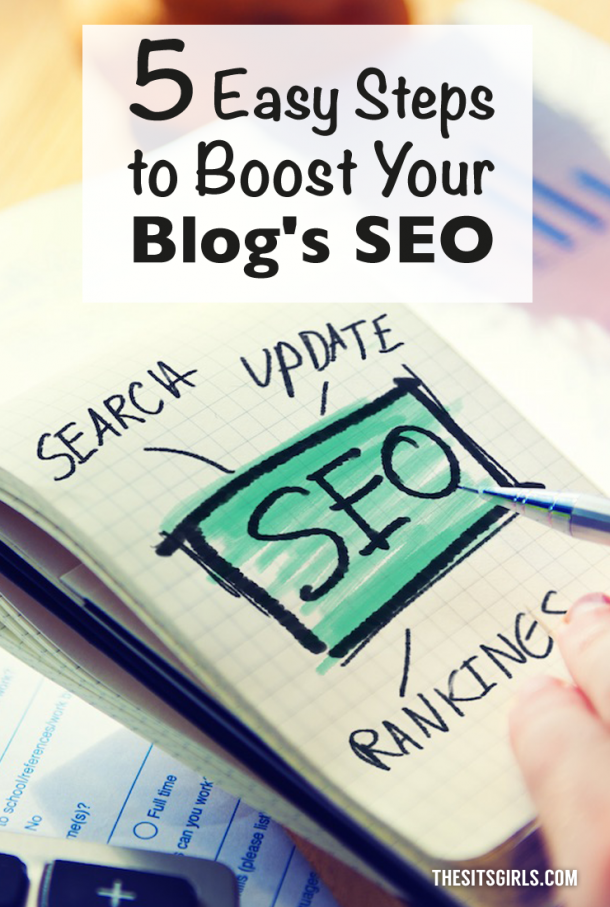 Click through for 5 easy steps that will help you boost your blog's search engine optimization.