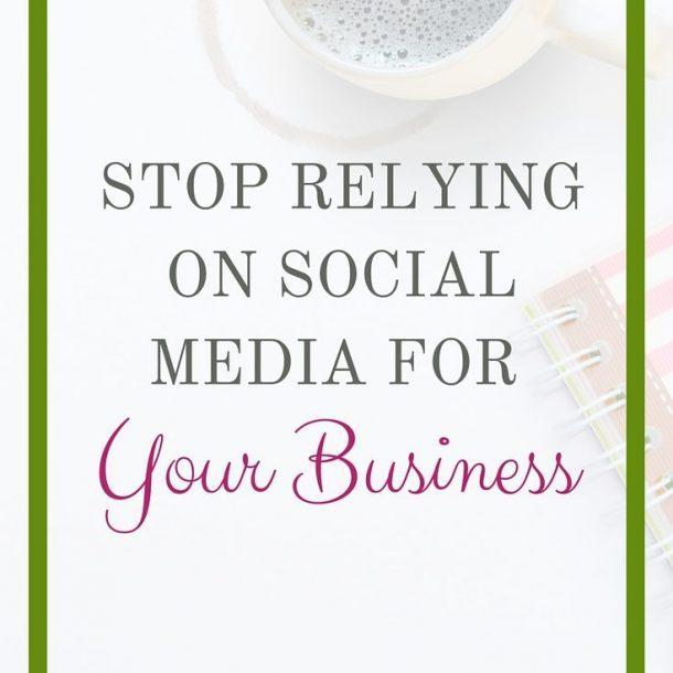 relying on social media
