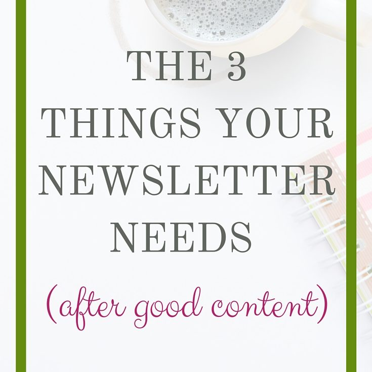 newsletter needs