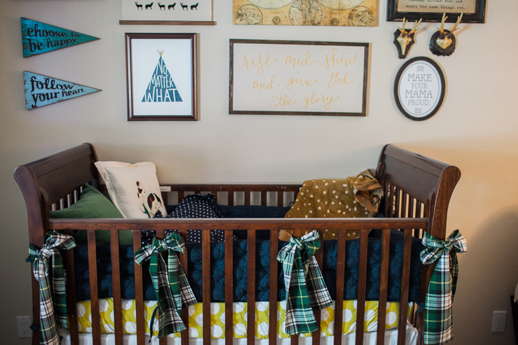 Baby boy nursery and gallery wall.