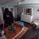 Dad Wakes Up His 2 Year Old As Darth Vader