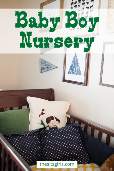 Create the perfect baby boy nursery with a woodland theme. Click through to see the full room and get great tips for a gallery wall.