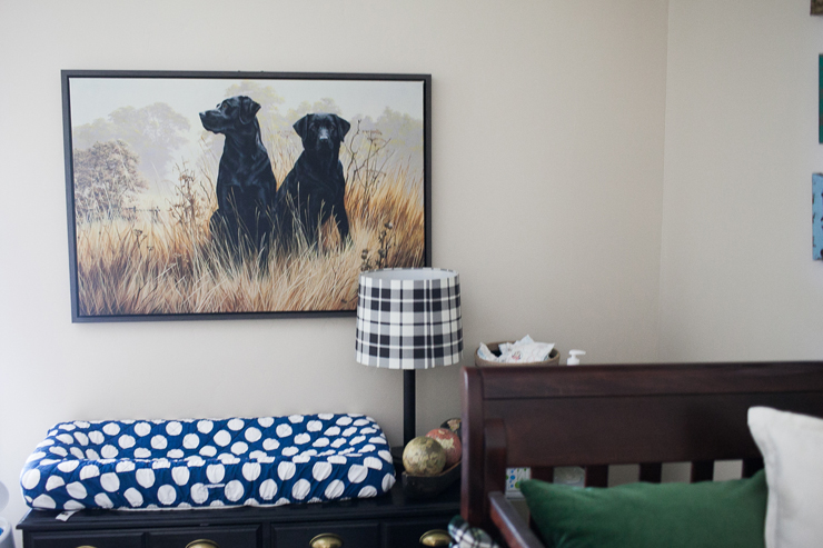 This cute plaid nursery is so on trend!