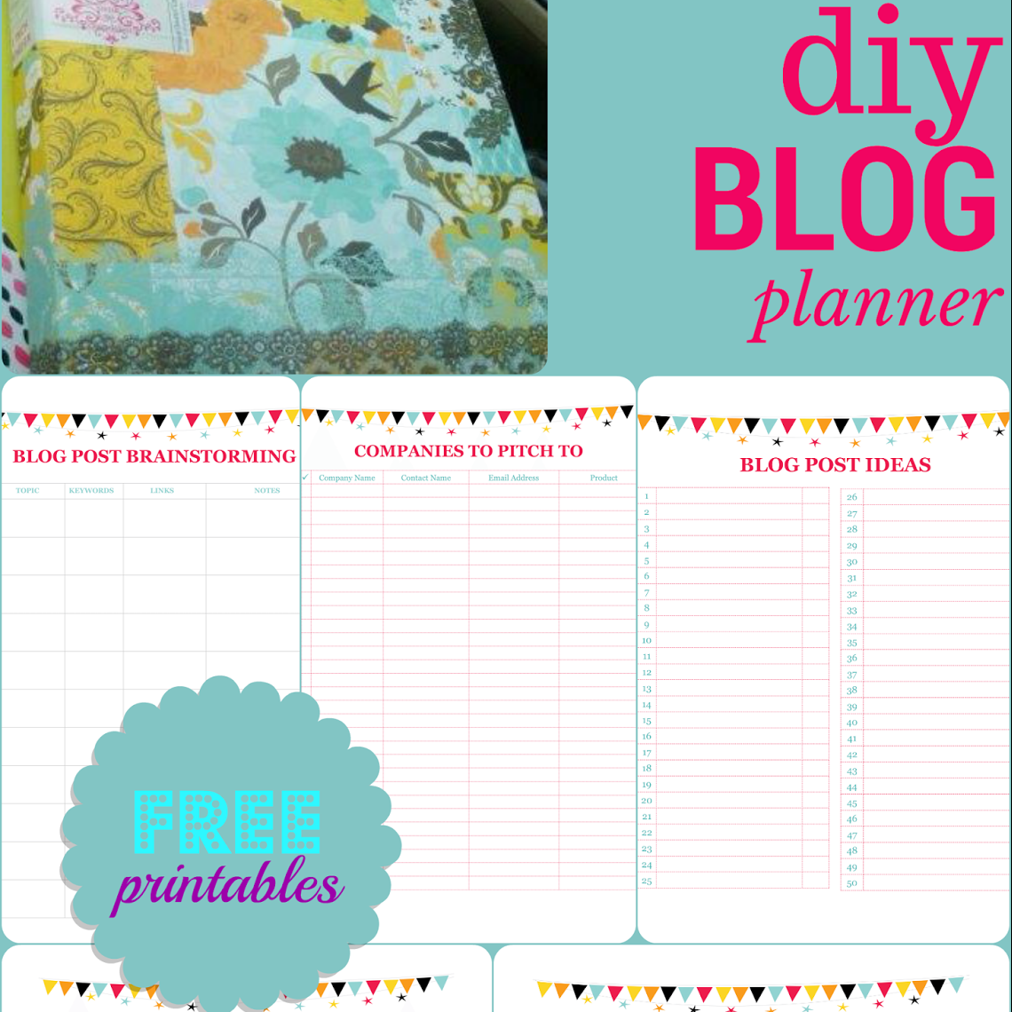 Make your own custom blog planner the sits girls for Build your own planner