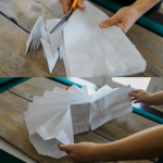 Perfect for party decorations any time of the year - giant paper bag stars. Mix and match colors to make a stunning feature wall for your next party, or hang your paper stars from the ceiling. Easy step by step instructions and a video tutorial will help you create the perfect stars.